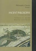 Philosophic Classics: Ancient philosophy