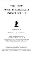 THE NEW FUNK AND WAGNALLS ENCYCLOPEDIA VOLUME 29
