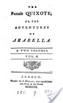 The Female Quixote, Or, The Adventures of Arabella